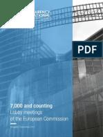 Lobby Meetings European Commission