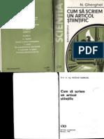 Nicolae Gherghel - Cum Sa Scriem Un Articol Stiintific