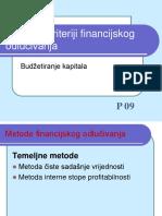 P09 Kriteriji Financijskog Odlucivanja 2009 Web