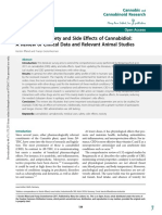 Update on Safety and Side Effects of Cannabidiol