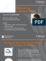 FREE SHORT COURSE - Scrum Master Primer - Webinar 1 of 3
