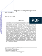 The Policy Response to Improving Urban Air Quality