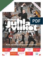 Oulun juhlaviikot 2017 ohjelmalehti