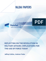 Valdai Paper_Reflecting on the Revolution in Military Affairs Implications for the Use of Force Today