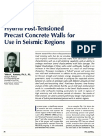 Hybrid Post-Tensioned Precast Concrete Walls for Use in Seismic Regions