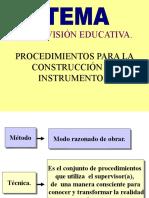Supervisión- Construcción de Instrumentos