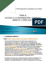 Comunicación y participación ciudadana en la red tema 8