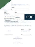 Surat Pernyataan Santri & Ortu