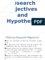 3. Research Objectives and Hypothesis