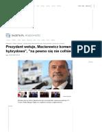 Prezydent Wetuje, Macierewicz Komentuje Swir Wariat
