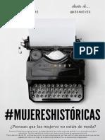 #MUJERESHISTÓRICAS. escrito por... @MARIACE_SAPERE. Diseño de @IESNIEVES