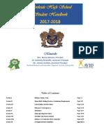 NSHS Student Handbook 2017-2018