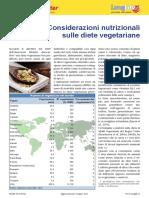 Considerazioni Nutrizionali Sulle Diete Vegetariane - Longlife Giugno 2011