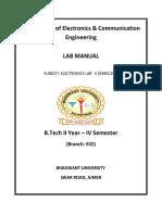 Electronics Lab II Sem IV