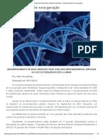 Sequenciamento de Nova Geração Para Análises Metagenômicas Enfoque Illumina