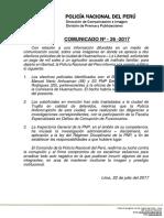 COMUNICADO PNP N° 26 - 2017