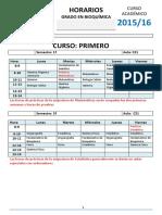 Horarios-Grado Bioquímica-2014-15