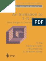 Invitation to 3D Vision