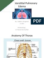 Acute Interstitial Pulmonary Edema Power Point Fix