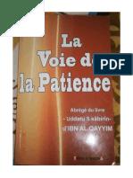 La Voie de La Patience Ibn Al Qayyim