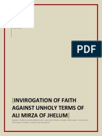 Invirogation Of Faith Against The Faithless Terms Coined By Ali Mirza Of Jhelum,ALI MORZA REFUTED