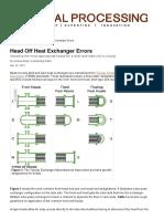 Head Off Heat Exchanger