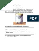 Guía de Ciencias Filtro de Agua