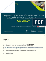 Procemin 2015 Design and Optimization of Comminution Circuits Using CITIC SMCC's Integrated Software