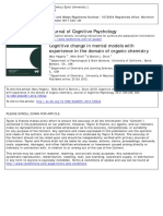 2013_cognitive Change in Mental Models With Experience in Domain Organic Chemistry