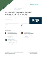 2013_mental Model in Learning Chemical Bonding
