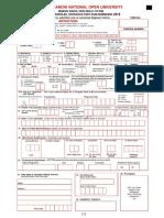 IGNOU B.ed Application Form 2018