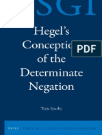 Hegel Conception of DetermNeg