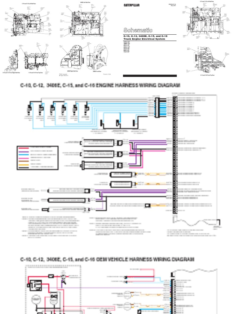 Oem Wiring Harness Diagram 3406e Library Caterpillar Engine