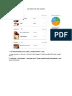 Diet Menu for 1700 Calories