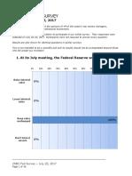CNBC Fed Survey, July 25, 2017