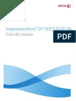 Manual Xerox d125 Español