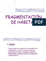 Fragmentación de Habitats