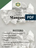 Manganês ( Geologia de Prospecção)