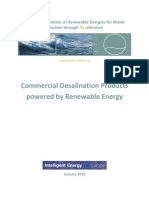 Commercial Desalination Products Powered by Renewable Energy