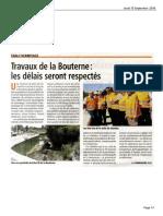 Drôme Hebdo - Travaux de La Bouterne
