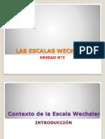 Unidad 3 - Las Escalas Weschler.