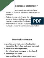 personal statementusc