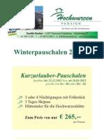 Winterpauschalen Hochwurzen 2011/12