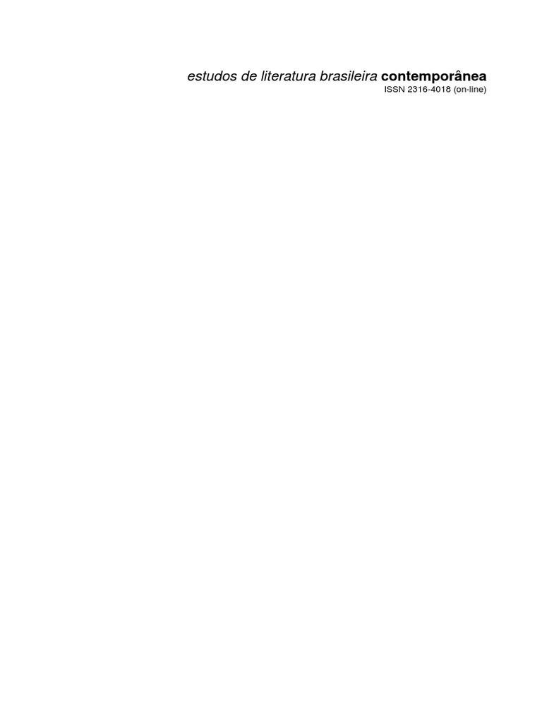 Estudos de Literatura Brasileira Contemporanea b317875e34d