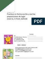 Ejercicios de Preposiciones de Lugar en Ingles