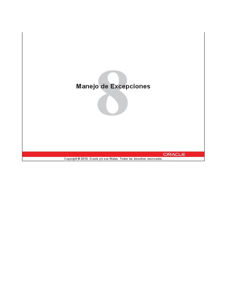 Tema 8 - Excepciones