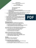 rachel brown resume