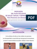 PROPUESTA  DEL PLAN INCLUSIVO DE SALUD  SEXUAL Y REPRODUCTIVA Para Personas con Discapacidad