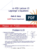 Lagrange Equations