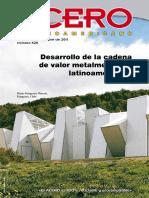 Revista Acero Latinoamericano Número 528 septiembre octubre 2011. Desarrollo cadena de valor.
